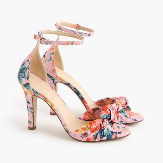J.Crew Knotted high-heel sandals in Liberty® floral