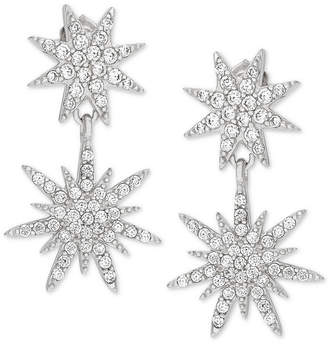 Giani Bernini Cubic Zirconia Starburst Drop Earrings in Sterling Silver
