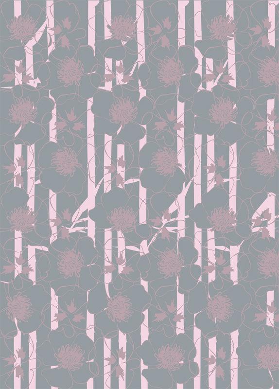 SUM Underwater Bamboo Wallpaper in Pink
