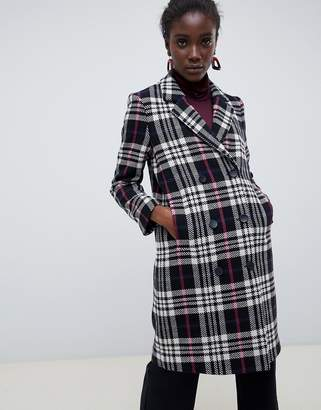 Selected Wool Check Coat
