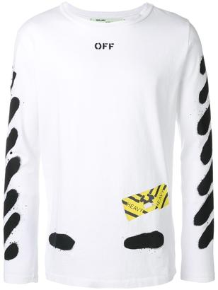Off-White spray detail T-shirt $318 thestylecure.com