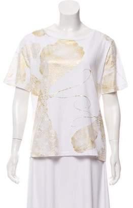 Diane von Furstenberg Metallic Printed T-Shirt