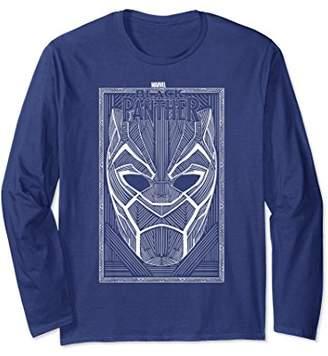 Marvel Panther Movie Geo Line Art Mask Long Sleeve Tee