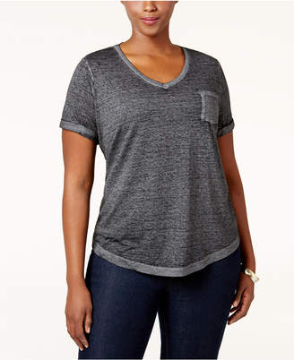 Style&Co. Style & Co Plus Size Burnout T-Shirt, Created for Macy's