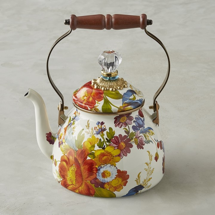 MacKenzie-Childs Flower Market Tea Kettle