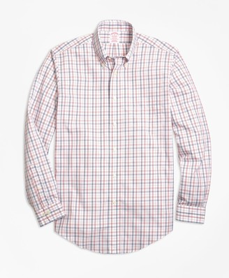 Brooks Brothers Non-Iron Madison Fit Triple-Color Windowpane Sport Shirt