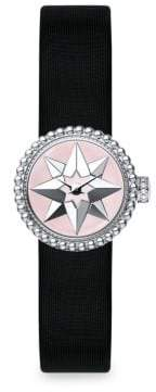 Christian Dior La D de Satin, Mother-Of-Pearl& Stainless Steel Star Watch