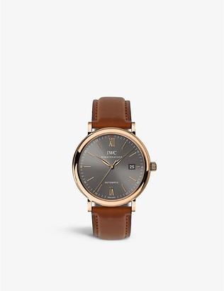 IWC IW356511 portofino automatic engraved watch