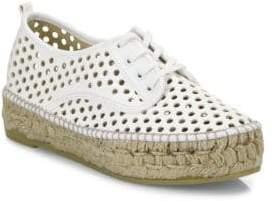 Loeffler Randall Alfie Perforated Vachetta Leather Espadrille Sneakers