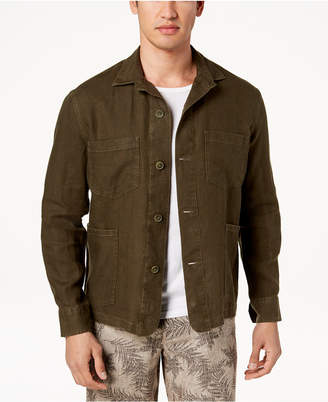 Tasso Elba Men's Linen Shirt Jacket, Created for Macy's