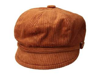 San Diego Hat Company CTH8126 Wide Wale Corduroy Baker Boy Cap with Floral Embroidery Button