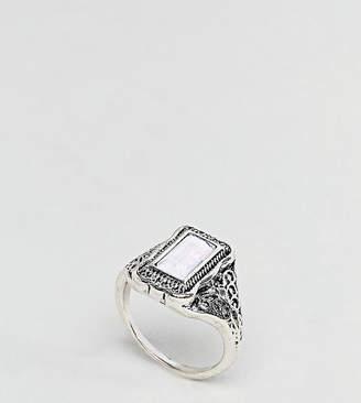 Asos Rectangle Stone Engraved Ring