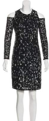 Michael Kors Sequined Knee-Length Dress