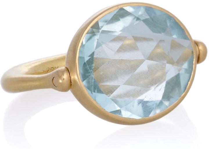 Marie Helene De Taillac Marie-Hélène de Taillac 22-karat gold aquamarine ring