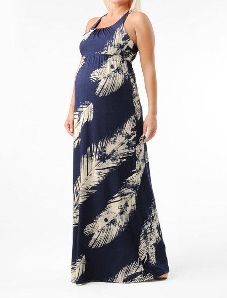 Apeainthepod Sleeveless Empire Seam Maternity Maxi Dress