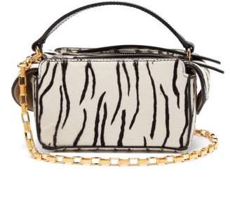 Wandler Yara Mini Zebra Print Calf Hair Cross Body Bag - Womens - Black White