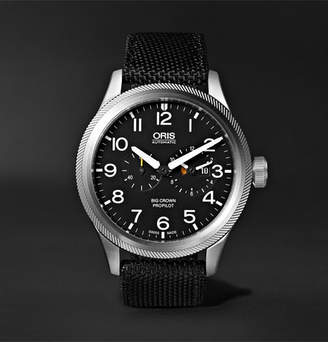 Oris Big Crown Propilot Automatic Chronograph 44.7mm Stainless Steel And Nato Canvas Watch