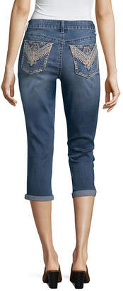 A.N.A Love Indigo Flower Pocket Capris