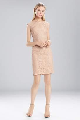 Josie Natori Lacquer Lace Sleeveless Dress