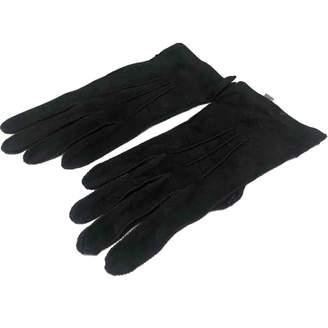 Bottega Veneta Black Suede Gloves