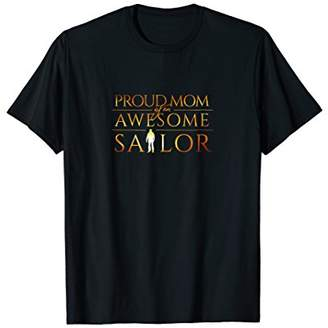 Proud Mom Of A Sailor Silhouette Military T Shirts
