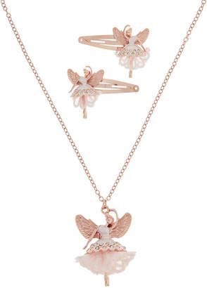 Monsoon Lacey Ballerina Necklace & Click Clack Set