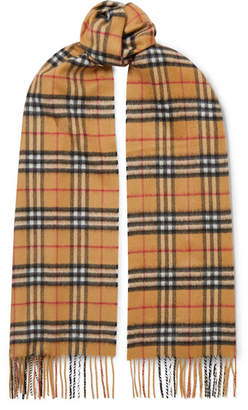 Burberry Checked Cashmere Scarf - Beige