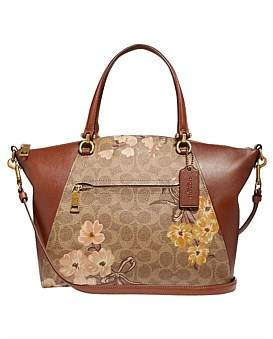 Coach Prairie Satchel In Signature Canvas With Prairie Floral