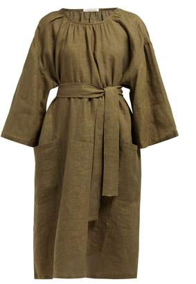 949ae002d49 Denis Colomb Tie Waist Linen Dress - Womens - Khaki