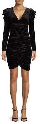 Miss Selfridge Glitter Ruched Velvet Dress