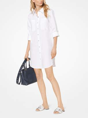 MICHAEL Michael Kors Cotton-Poplin Shirtdress