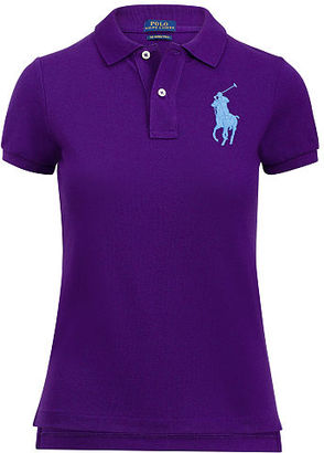Polo Ralph Lauren Skinny-Fit Big Pony Polo Shirt $98.50 thestylecure.com