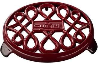 "La Cuisine LC 8555 7"" Round Cast Iron Trivet"