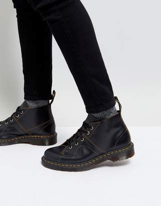 Dr. Martens Church Monkey Lace up Boots In Black