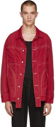 Eckhaus Latta Red Nylon Jacket