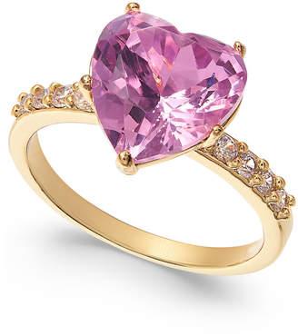 Charter Club Crystal Heart Ring
