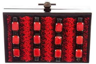 Jason Wu Karlie Embellished Satin Box Clutch