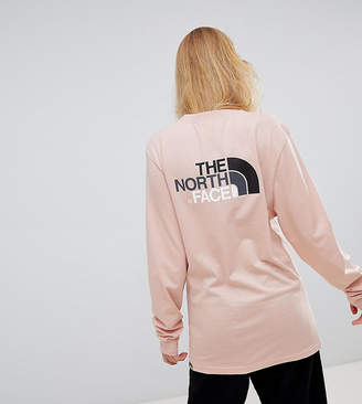 The North Face Exclusive to ASOS Long Sleeve Easy T-Shirt in Pink
