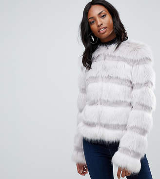 Asos Tall DESIGN Tall textured faux fur coat