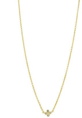 Freida Rothman Mini Clover Necklace with CZ Stones