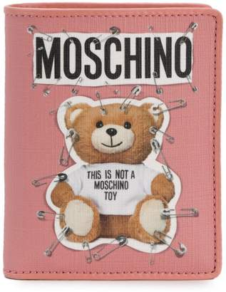 Moschino logo Teddy wallet