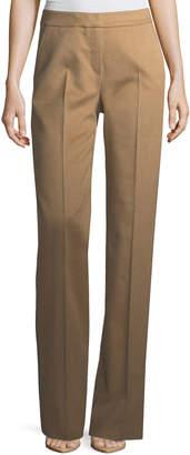 Max Mara Camel Hair Straight-Leg Pants