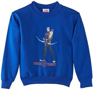 Marvel Boy's Avengers Assemble Hawkeye Locked on Target Short Sleeve Sweatshirt,(Manufacturer Size:5-6 Years)