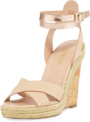 Charles by Charles David Brit Cork Wedge, Nude