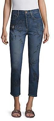 Alice + Olivia (アリス オリビア) - Alice + Olivia Jeans Alice + Olivia Jeans Women's Painted High Rise Jeans