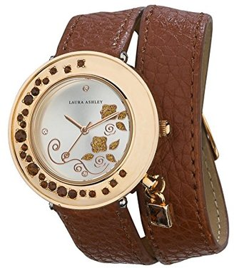 Laura Ashley Women's LA31008BR Analog Display Japanese Quartz Brown Watch $44.55 thestylecure.com