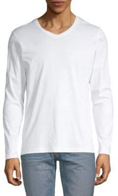 Saks Fifth Avenue V-Neck Long Sleeve T-Shirt