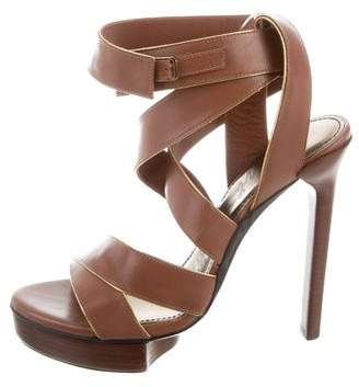 Lanvin Crossover Platform Sandals w/ Tags