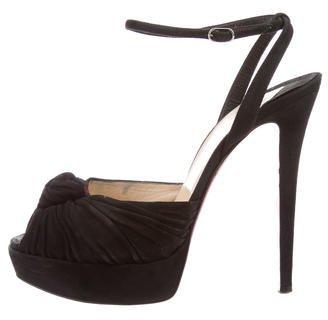 Christian Louboutin Christian Louboutin Suede Platform Sandals