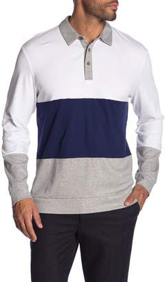 Calvin Klein Colorblock Long Sleeve Polo